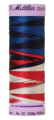 Mettler #9823 Patriotic 50W 109Y Var Silk Finish Cotton Thread