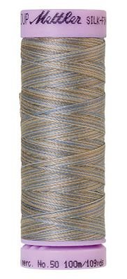 Mettler 50W 109Y Var Silk Finish Cotton Thread 9843 - Silvery Blues+
