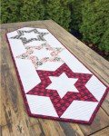 Hollow Star Table Runner by Krista Moser for Cut Loose Press+