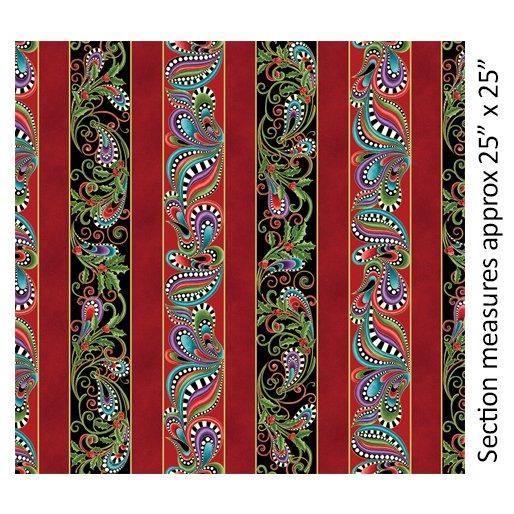 Cat-i-tude Christmas Stripe Multi by Anne Lauer for Benartex 6742M 99+