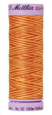 Mettler 50W 109Y Var Silk Finish Cotton Thread 9858 - Falling Leaves+
