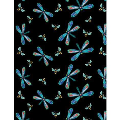 Rainbow Flight Dragonflies Black 3000 77642 945+
