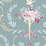 Tilda Old Rose Collection Birdsong Teal-Green TIL100208+