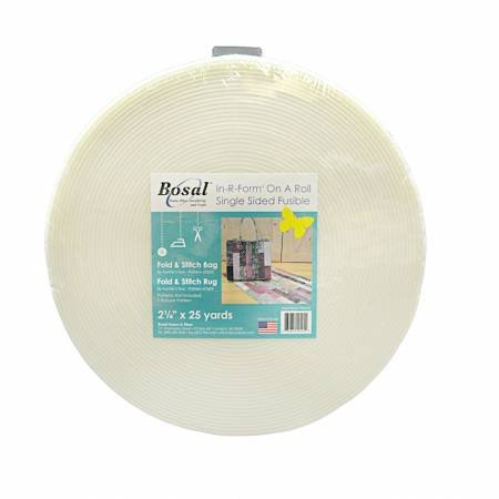 Bosal In-R-Form Single Sided Fusible Stabilizer White 2-1/4in x 25yds+
