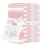 Tilda -Tea Towel Basics FQ Bundle - Red Plum+