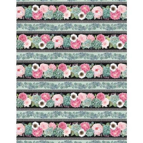 Botanical Oasis Border Print by Anne Rowan 3007-68516-973+