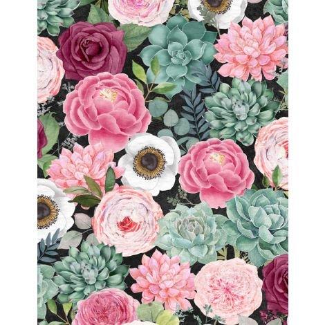 Botanical Oasis Multi Floral by Anne Rowan 3007-68518-973+