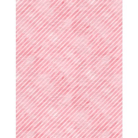 Botanical Oasis Pink Diagonal Stripe by Anne Rowan 3007-68521-333+