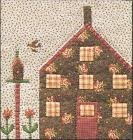 Quilted Village BOTM #9 Cottage with Birdhouse by The City Stitcher