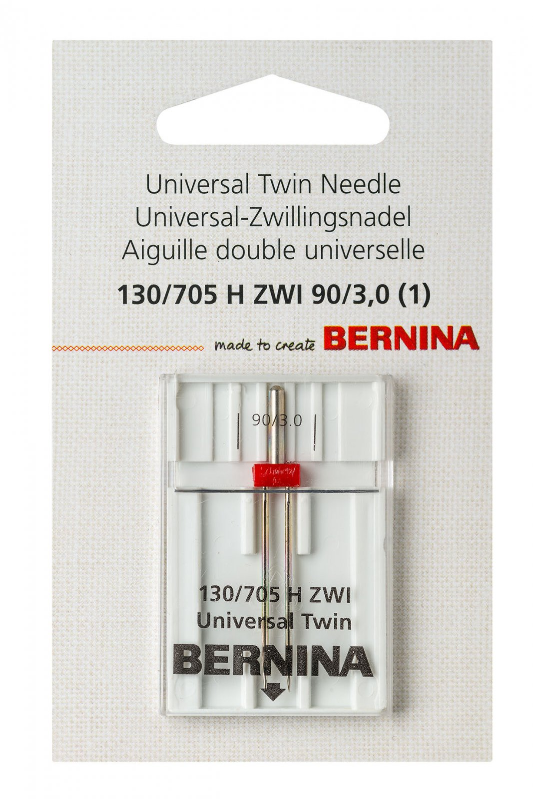 Bernina Universal Twin Needle 130/705H ZWI Size 70+