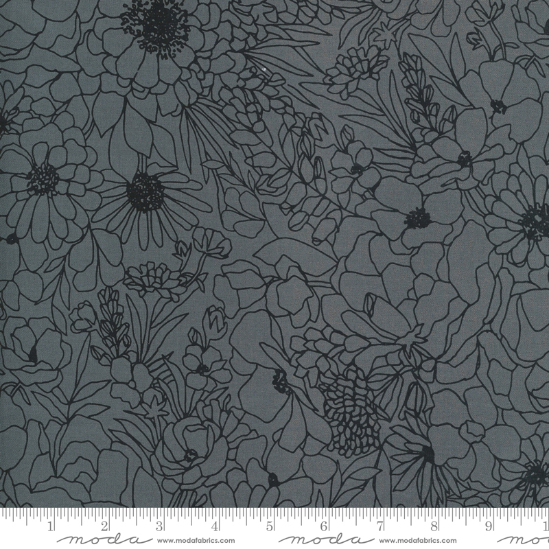 Illustrations Graphite Floral #11501-14 by Moda