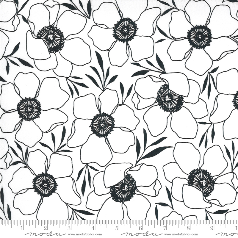 Illustrations Graphite Floral #11502-11 by Moda