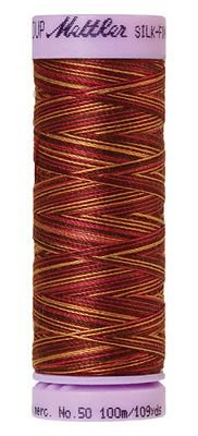 Mettler 50W 109Y Var Silk Finish Cotton Thread 9850 - Mocha Cherry+
