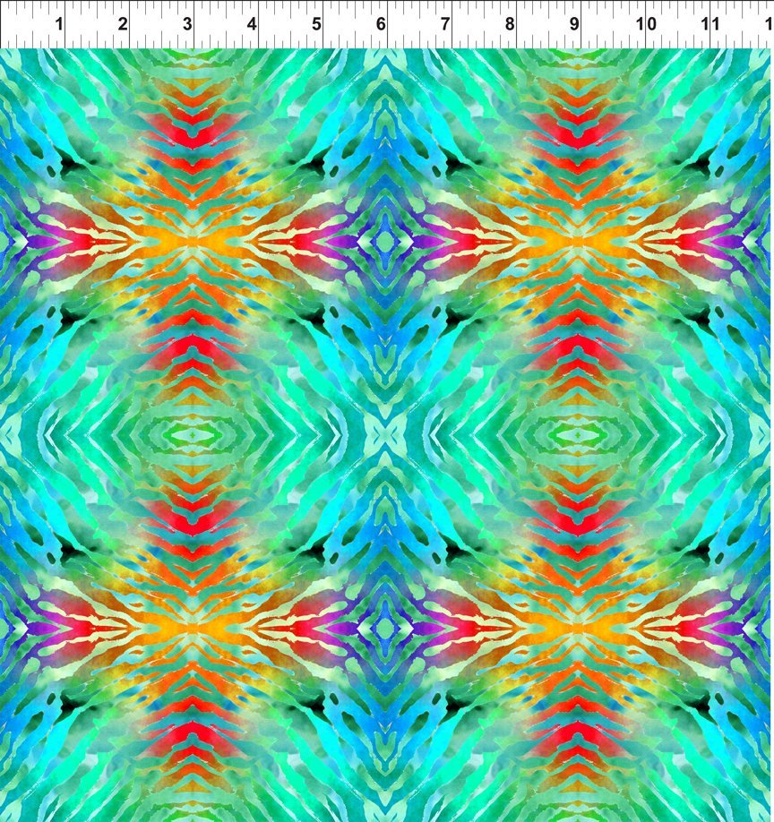 Safari Digital Print Blue/Green by In The Beginning 3SAF 2+