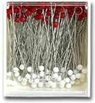 Silk Pins Red/White Glass Heads by Clover 2501+