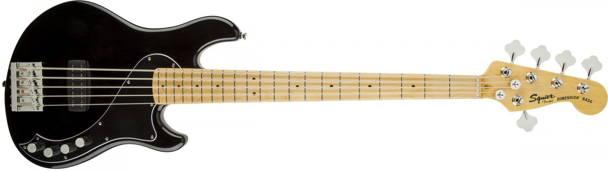 Fender Squier Deluxe Dimension Bass V MN Black