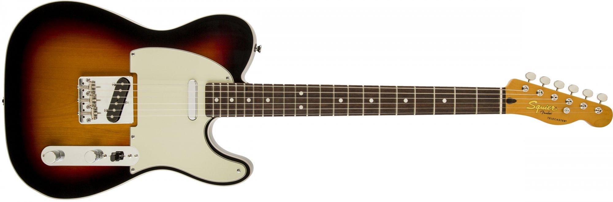 Fender Squier Classic Vibe Telecaster Custom Laurel Fretboard, 3-Tone Sunburst