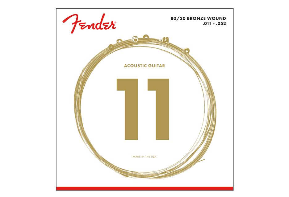 Fender 80/20 Bronze Acoustic Guitar Strings Custom Light