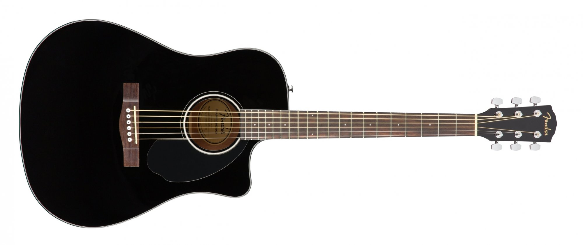 Fender CD-60SCE Acoustic Electric Guitar Black