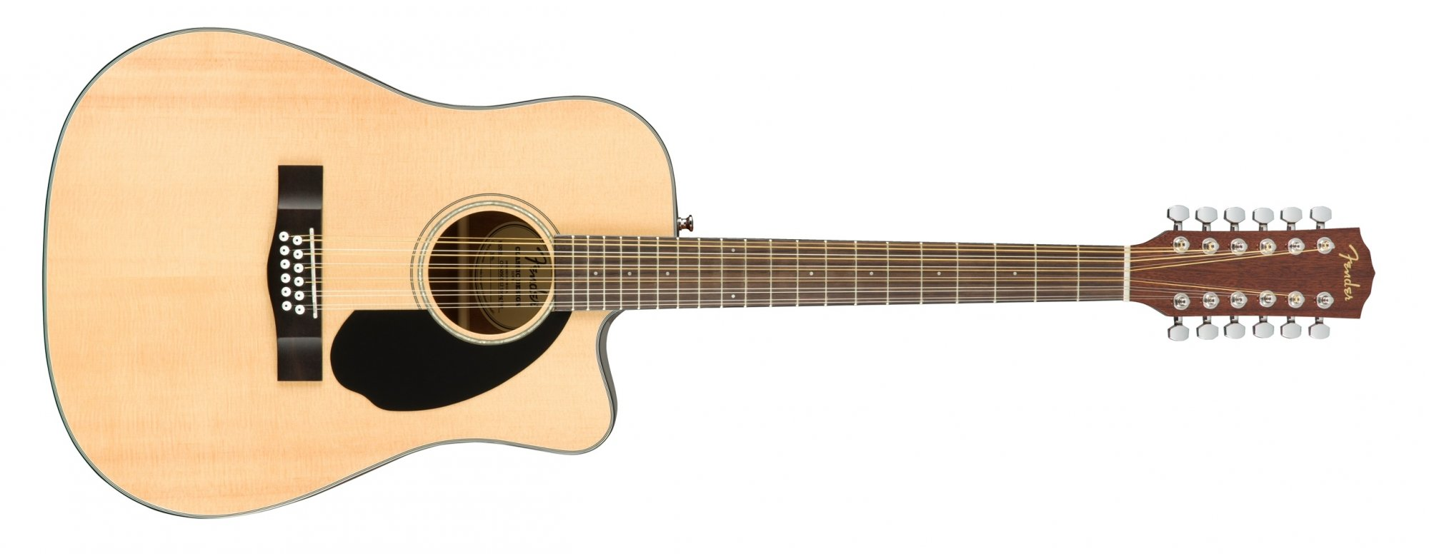 Fender CD-60SCE 12 String Acoustic Electric Guitar Natural