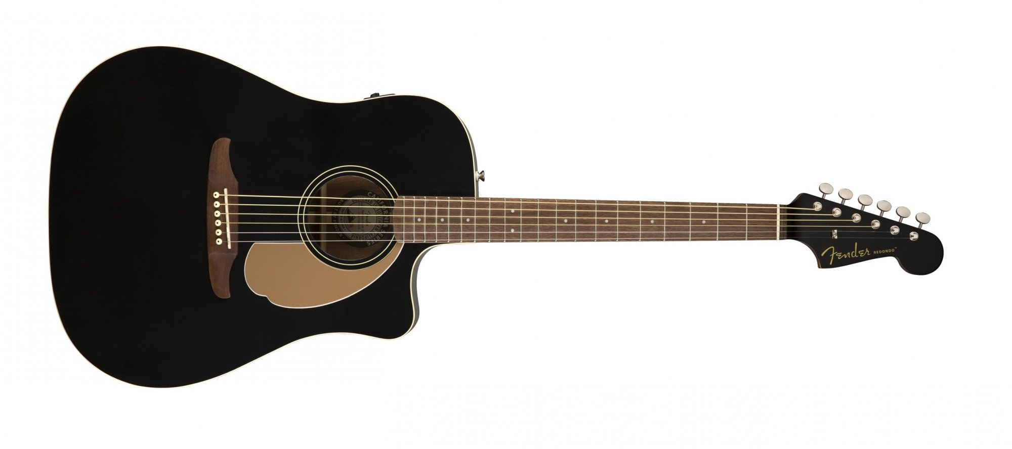 Fender Redondo Player Acoustic Electric Guitar WN Jettly Black