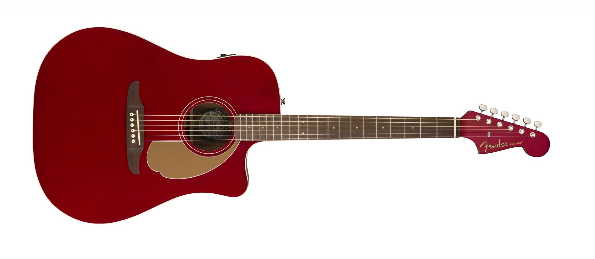 Fender Redondo Player Acoustic Electric Guitar WN Candy Apple Red