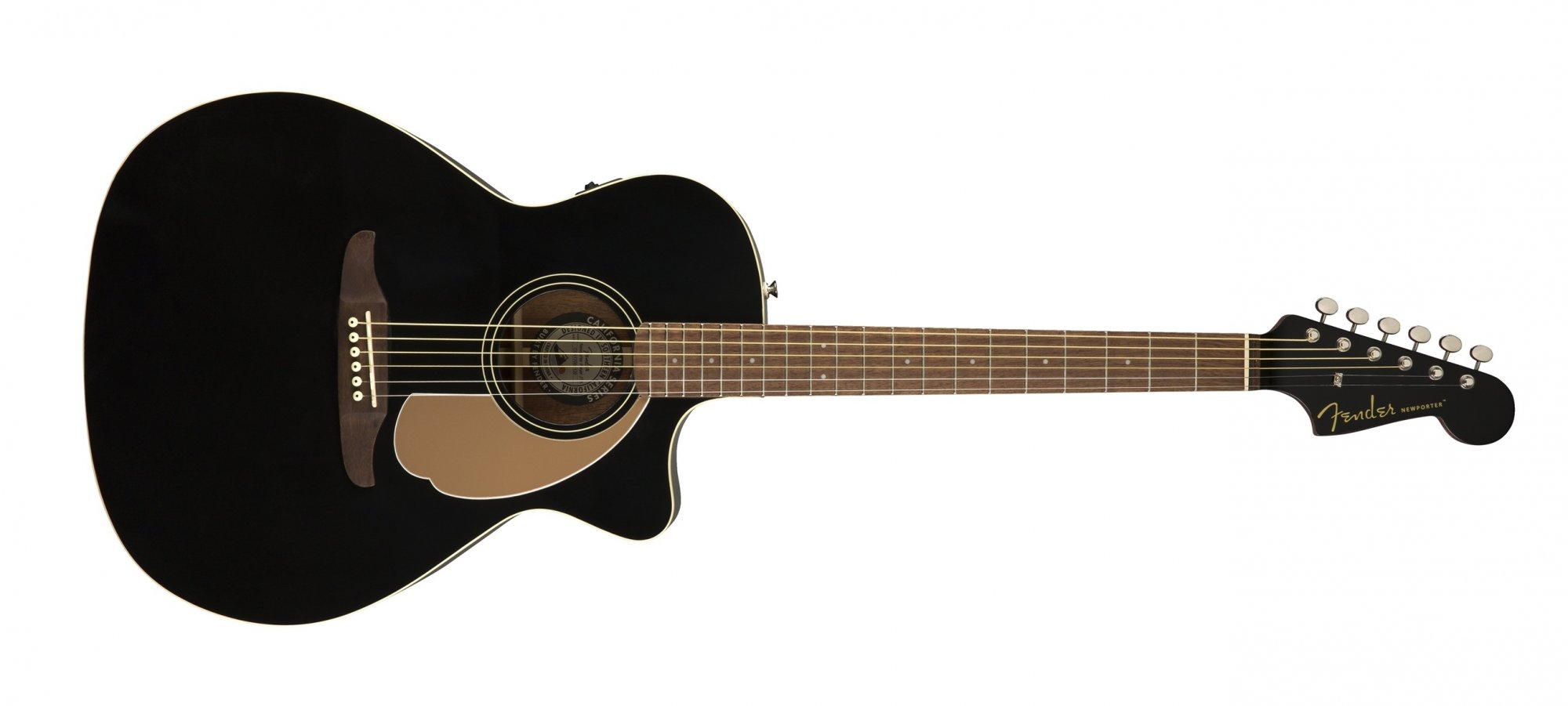 Fender Newporter Player Acoustic Electric Guitar WN Jetty Black