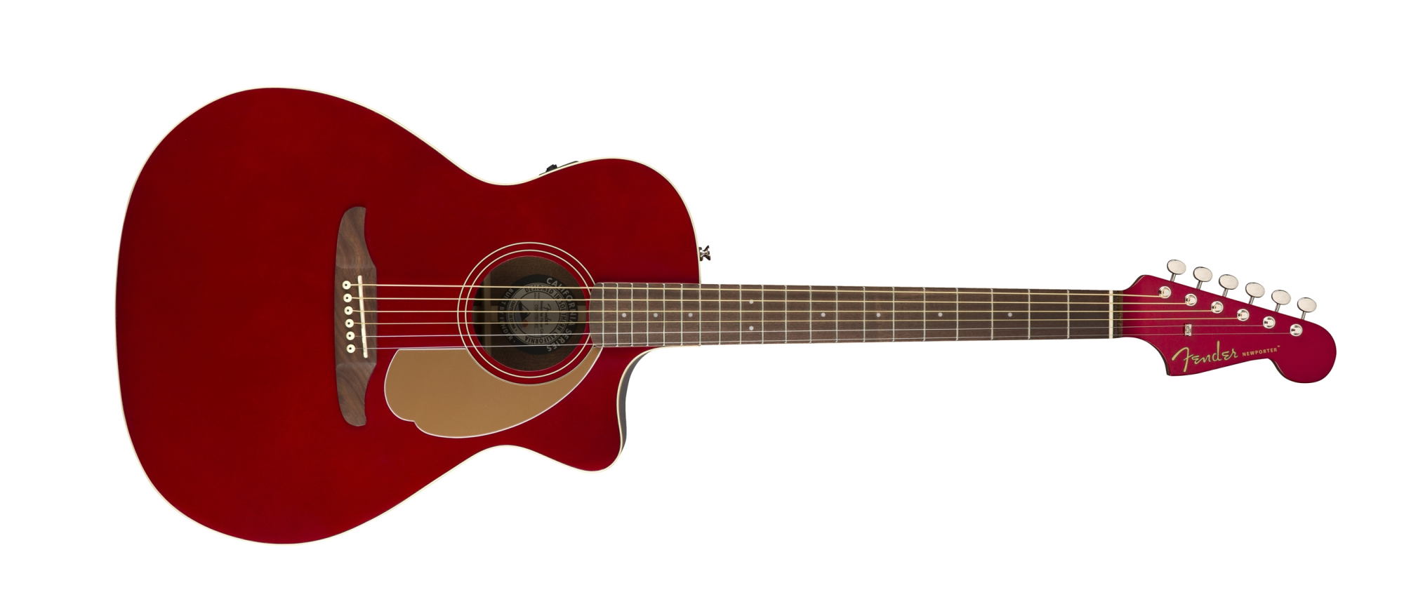 Fender Newporter Player Acoustic Electric Guitar WN Candy Apple Red