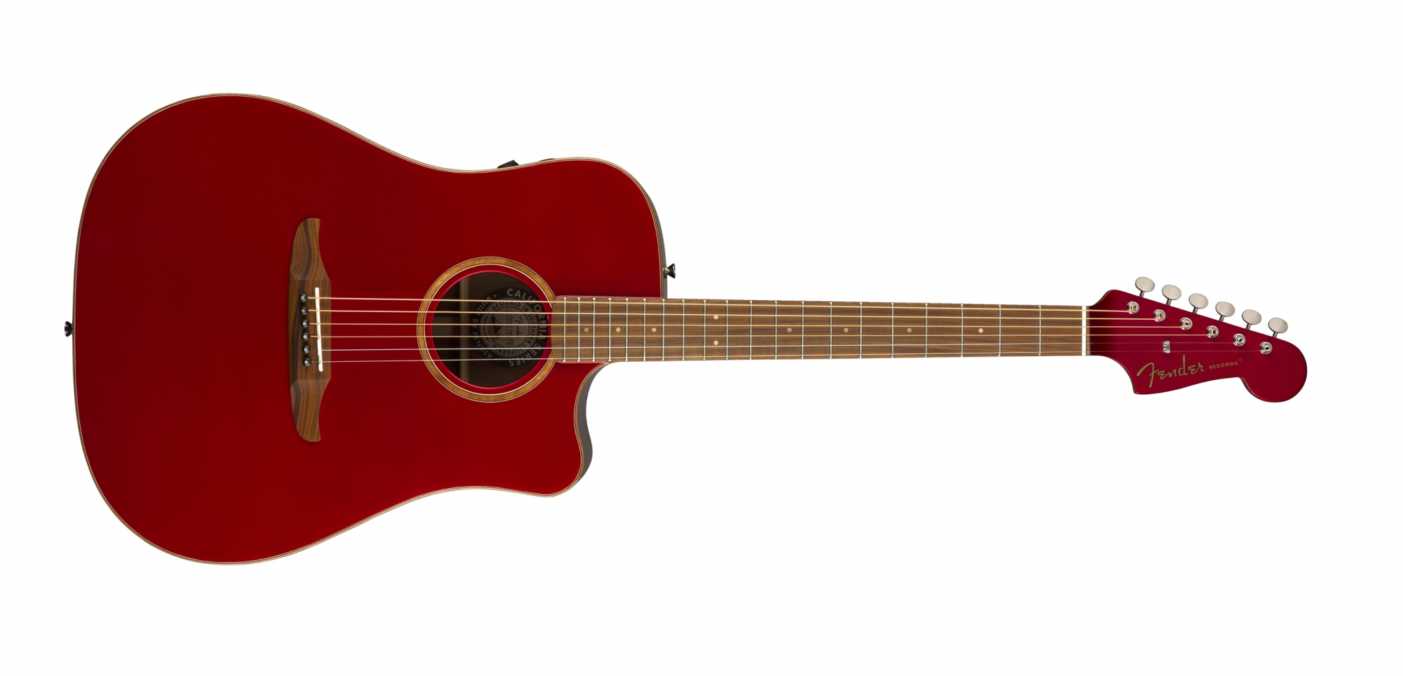 Fender Redondo Classic Acoustic Electric Guitar Hot Rod Red Metallic