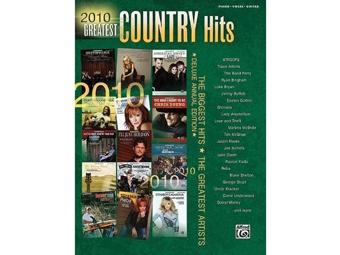 2010 Greatest Country Hits Piano/Vocal/Guitar