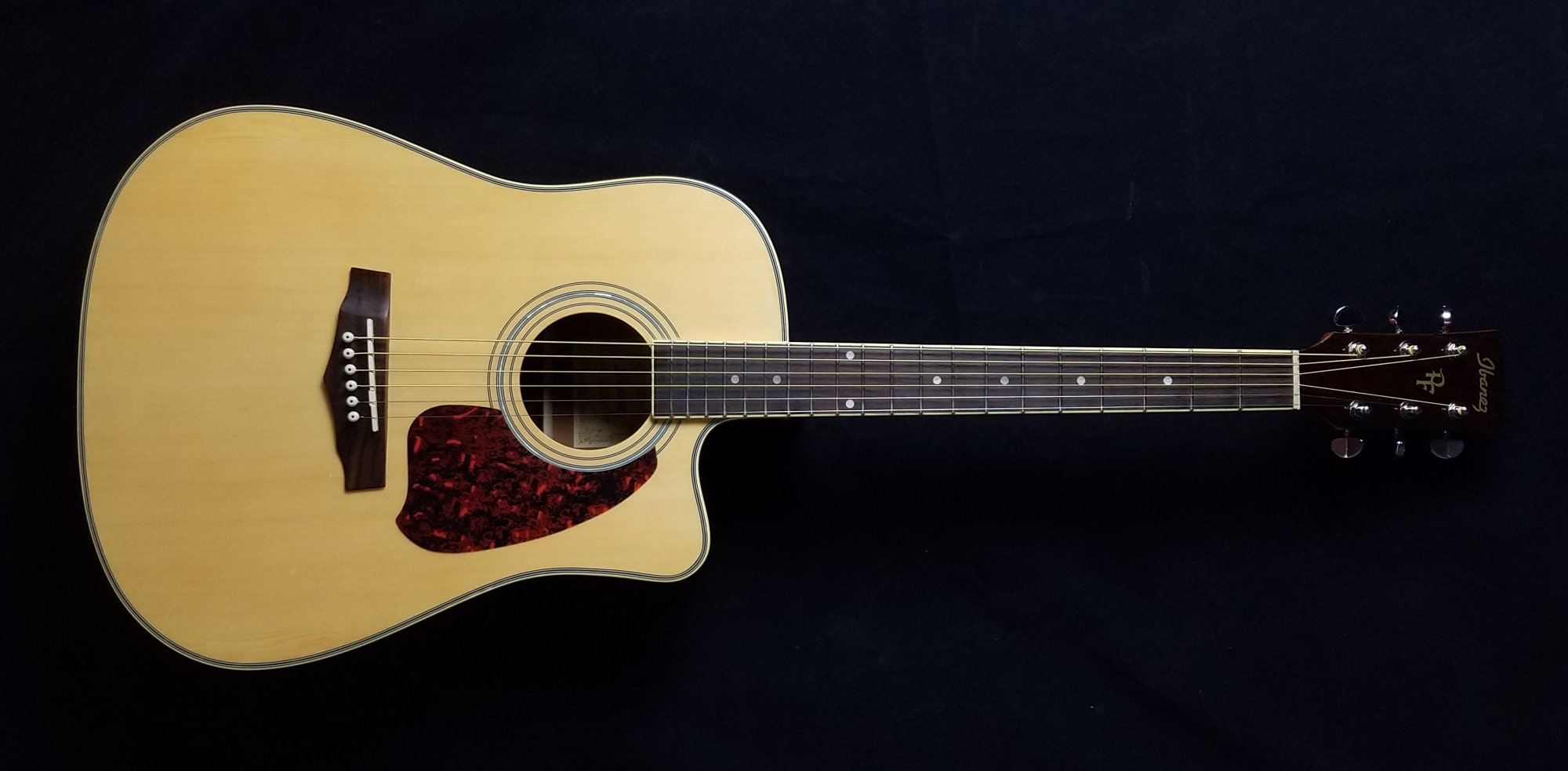 USED Ibanez PF25EC Acoustic Electric Guitar, Natural