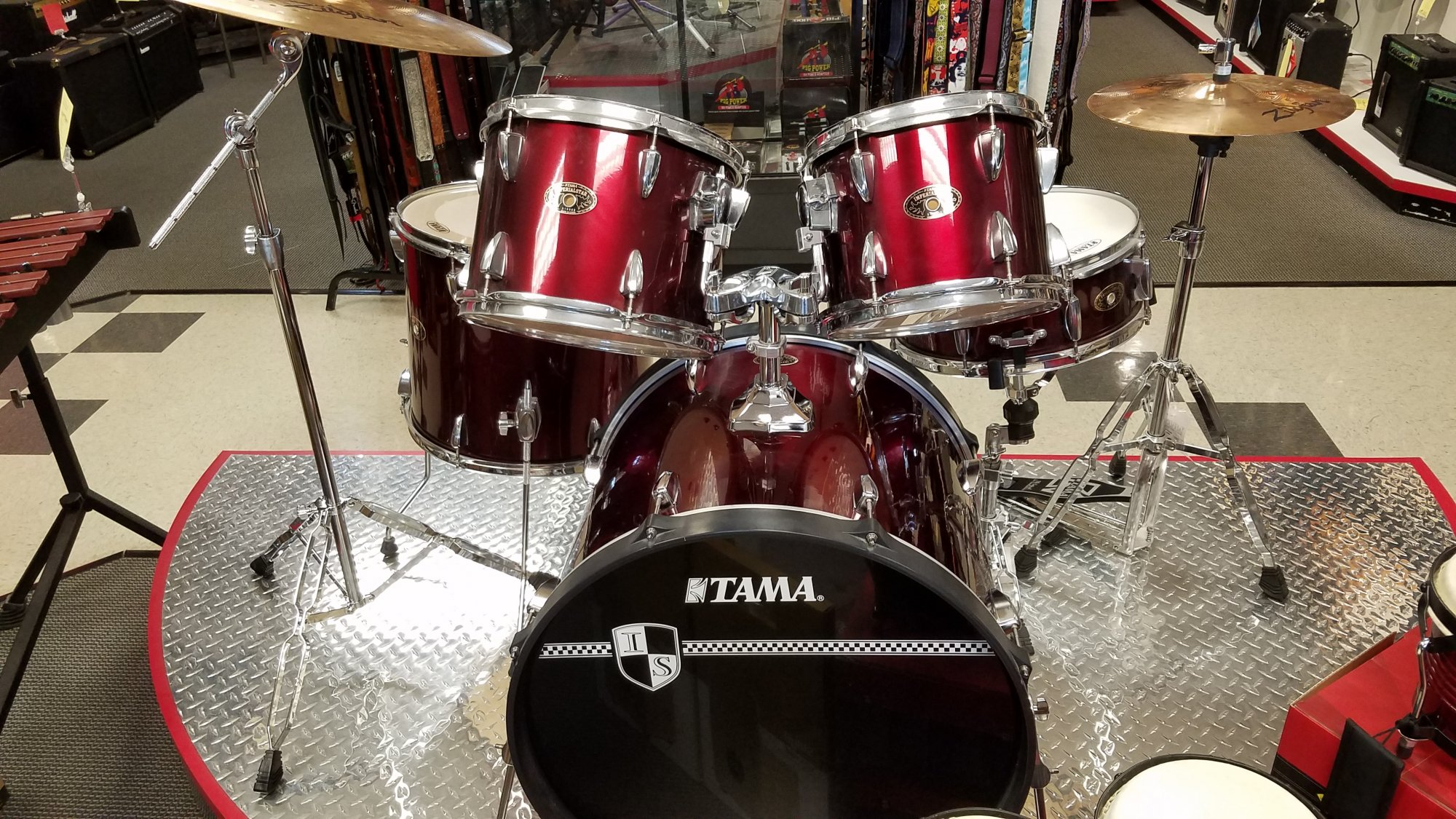USED Tama Imperialstar Drum Kit with Stands and Cymbals