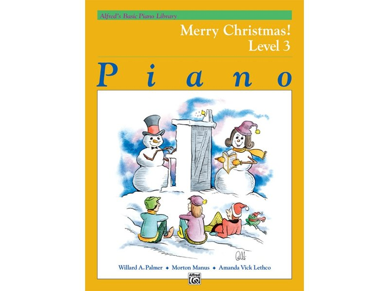 Alfred's Basic Piano Library Level 3 Merry Christmas!