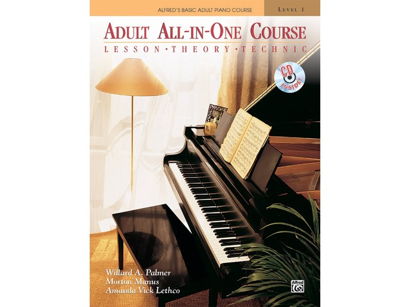 Alfred's Basic Adult All-in-One Piano Course Level 1 with CD