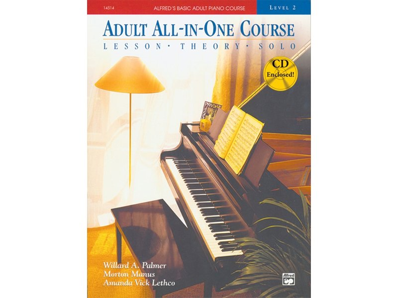 Alfred's Basic Adult All-in-One Piano Course Level 2 with CD