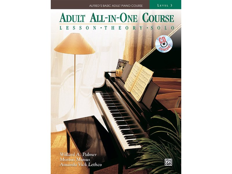 Alfred's Basic Adult All-in-One Piano Course Level 3 with CD