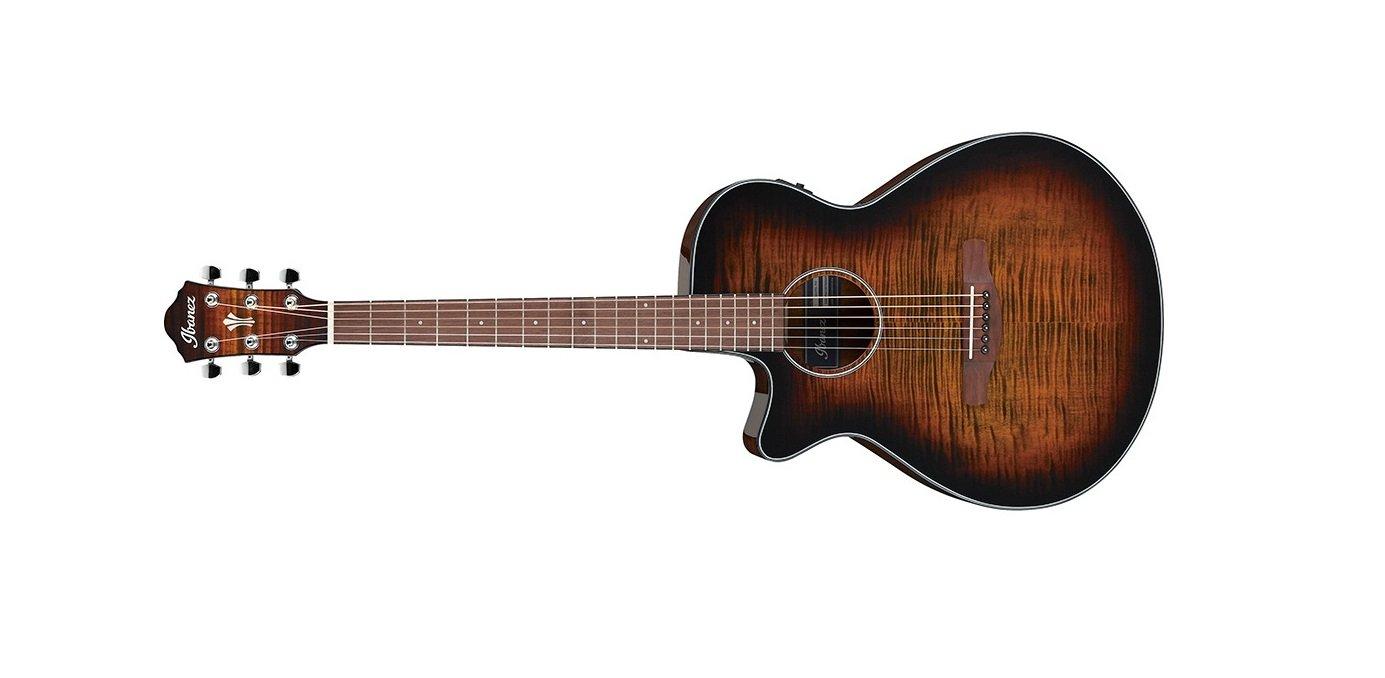 Ibanez AEG70LTIH Lefty Acoustic Electric Guitar, Tiger Burst