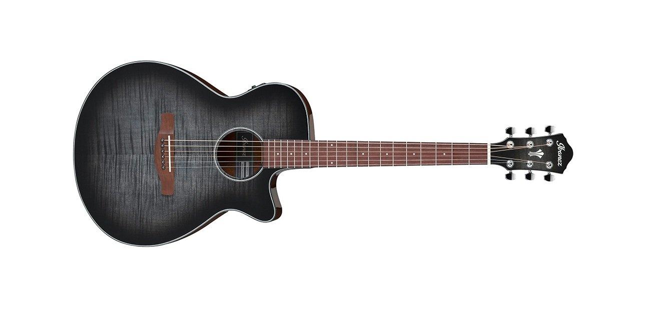 Ibanez AEG70TCH Acoustic Electric Guitar, Trans Charcoal