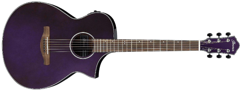 Ibanez AEWC10 Artwood Acoustic Electric Guitar, Night Metallic Purple