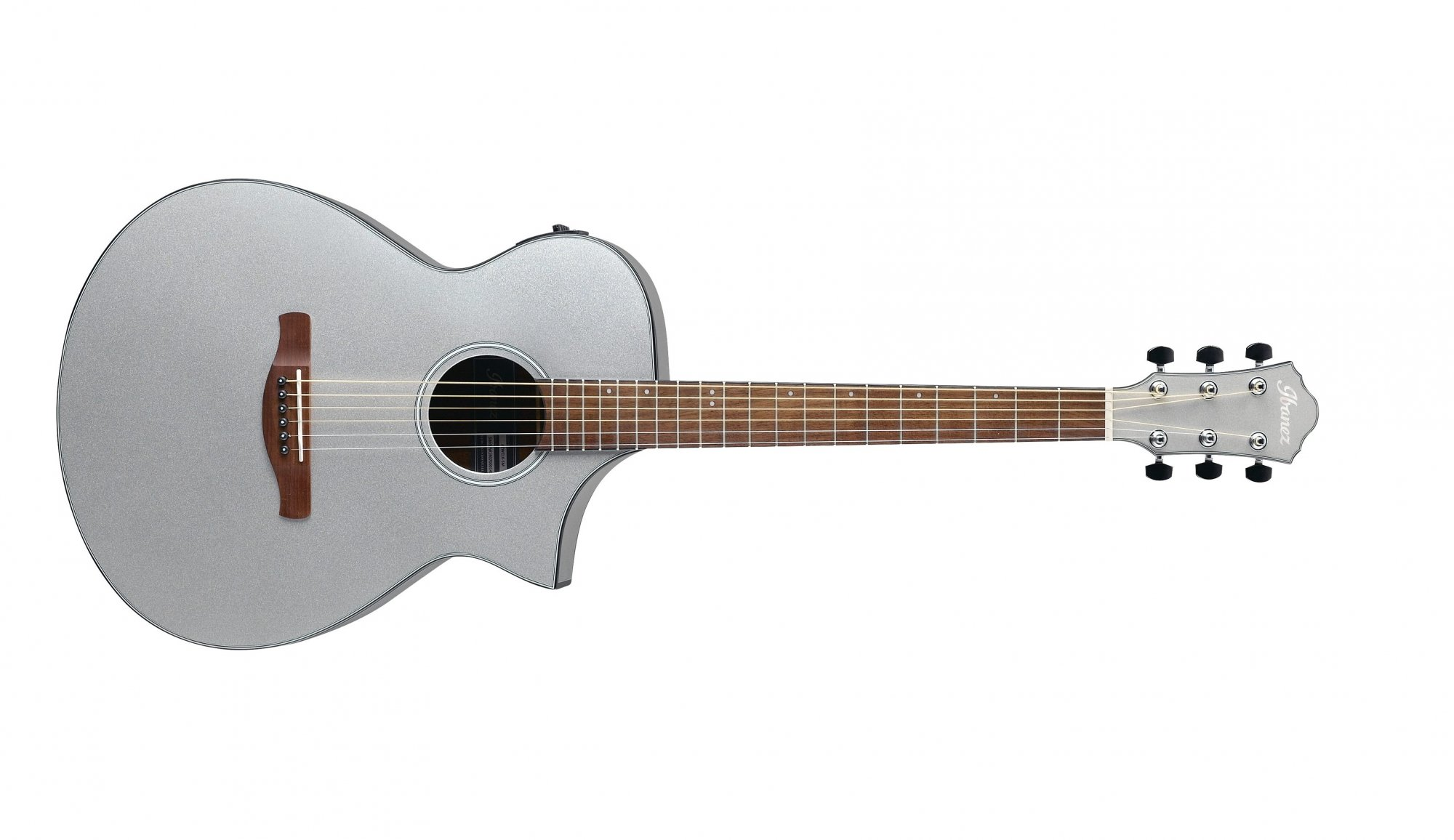 Ibanez AEWC10 Artwood Acoustic Electric Guitar, Silver Metallic