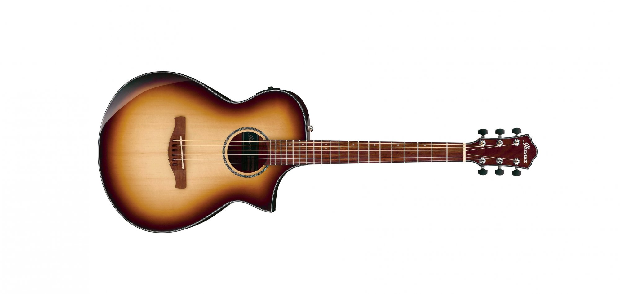 Ibanez AEWC300 Acoustic Electric Guitar, Natural Brown Burst