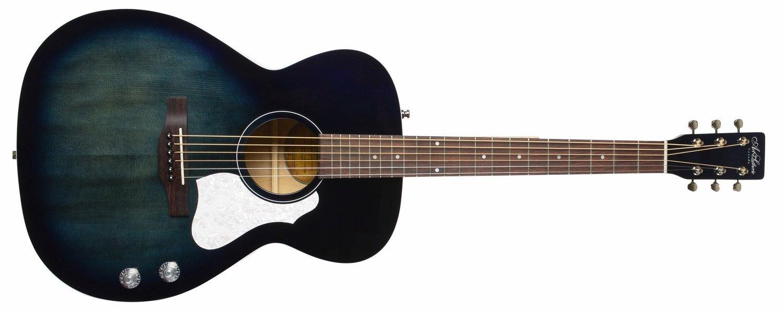 Art & Lutherie Legacy Q-Discrete Acoustic Electric Guitar, Indigo Burst High Gloss