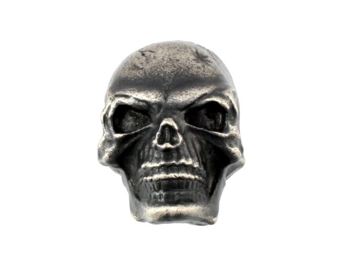 All Parts Skull Knob, Antique Chrome
