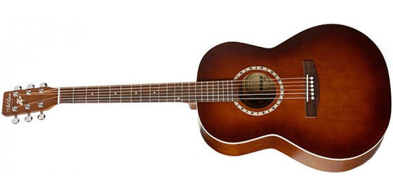 Art & Lutherie Folk Cedar EQ Left-Handed Acoustic Electric Guitar, Antique Burst