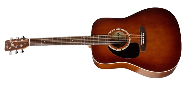 Art & Lutherie Cedar EQ Left-Handed Acoustic Electric Guitar, Antique Burst