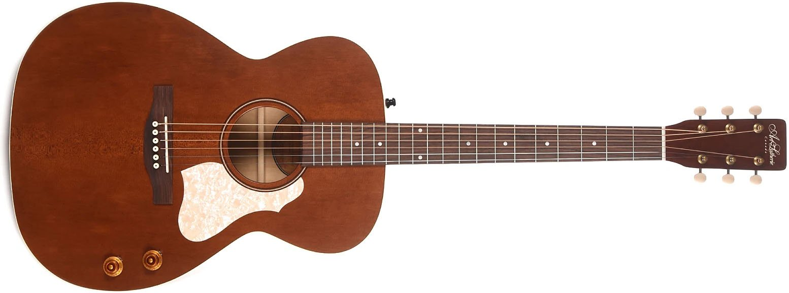 Art & Lutherie Legacy Q-Discrete Acoustic Electric Guitar, Havana Brown