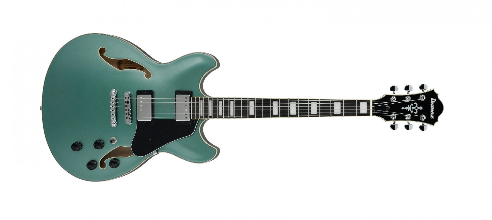 Ibanez AS73 Semi Hollow Electric Guitar, Olive Metallic