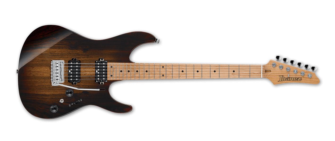 Ibanez Premium AZ242BC Electric Guitar, Bocate Top, Desert Espresso Burst