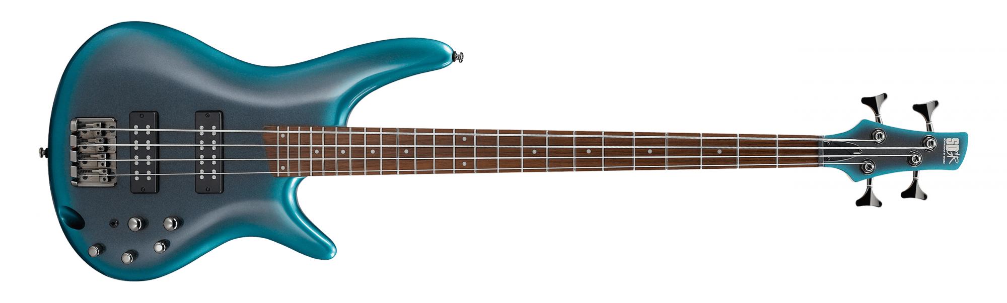 Ibanez SR300E Electric Bass, Cerulean Aura Burst