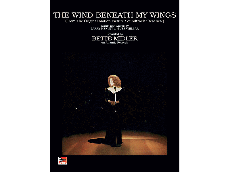 Bette Midler The Wind Beneath My Wings Piano/Vocal/Guitar